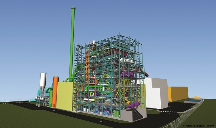 Picture of 3D illustration of the Tilbury biomass power plant