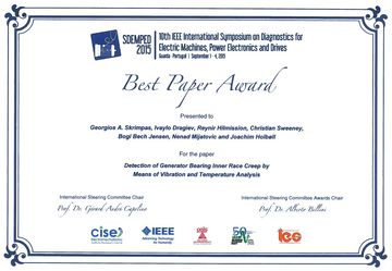 SDEMPED Best Paper Award 2015