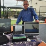Glenn Poche with the VC-8000 and VCM-3 vibration monitoring systems